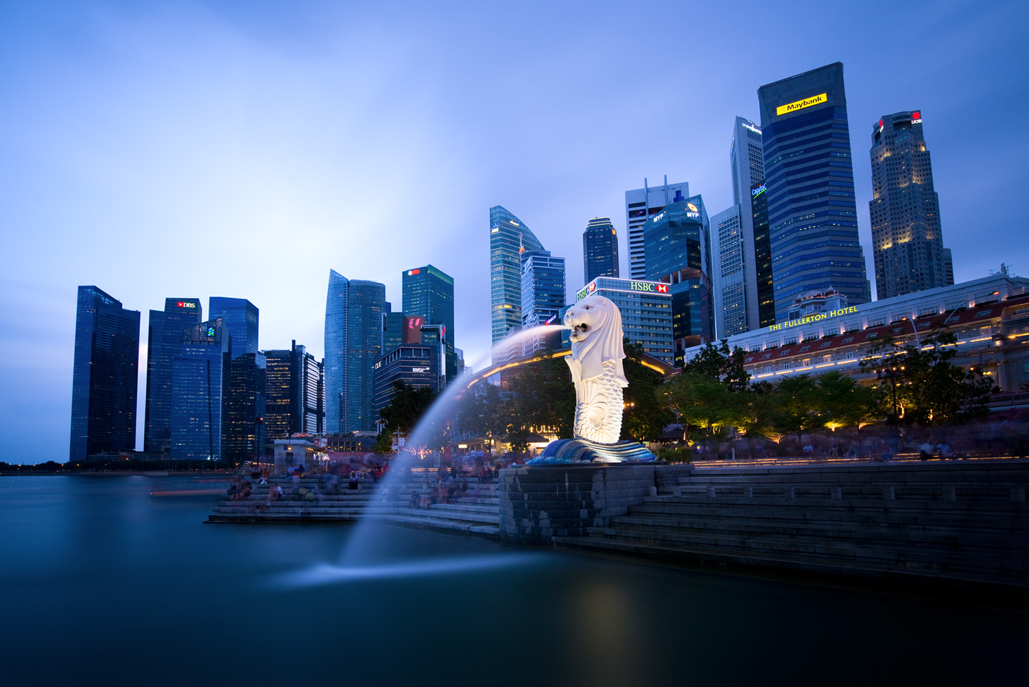 Singapore Using Neutral Density Filters for Cityscape Photography at Blue Hour