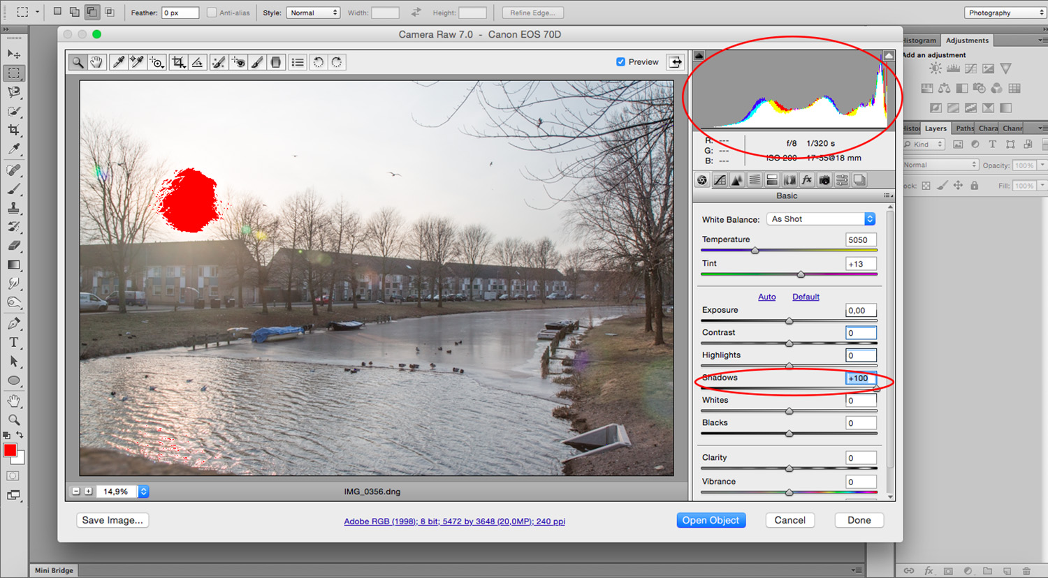 Balance Exposure in Adobe Camera Raw to Improve Your Photographs - Shadows