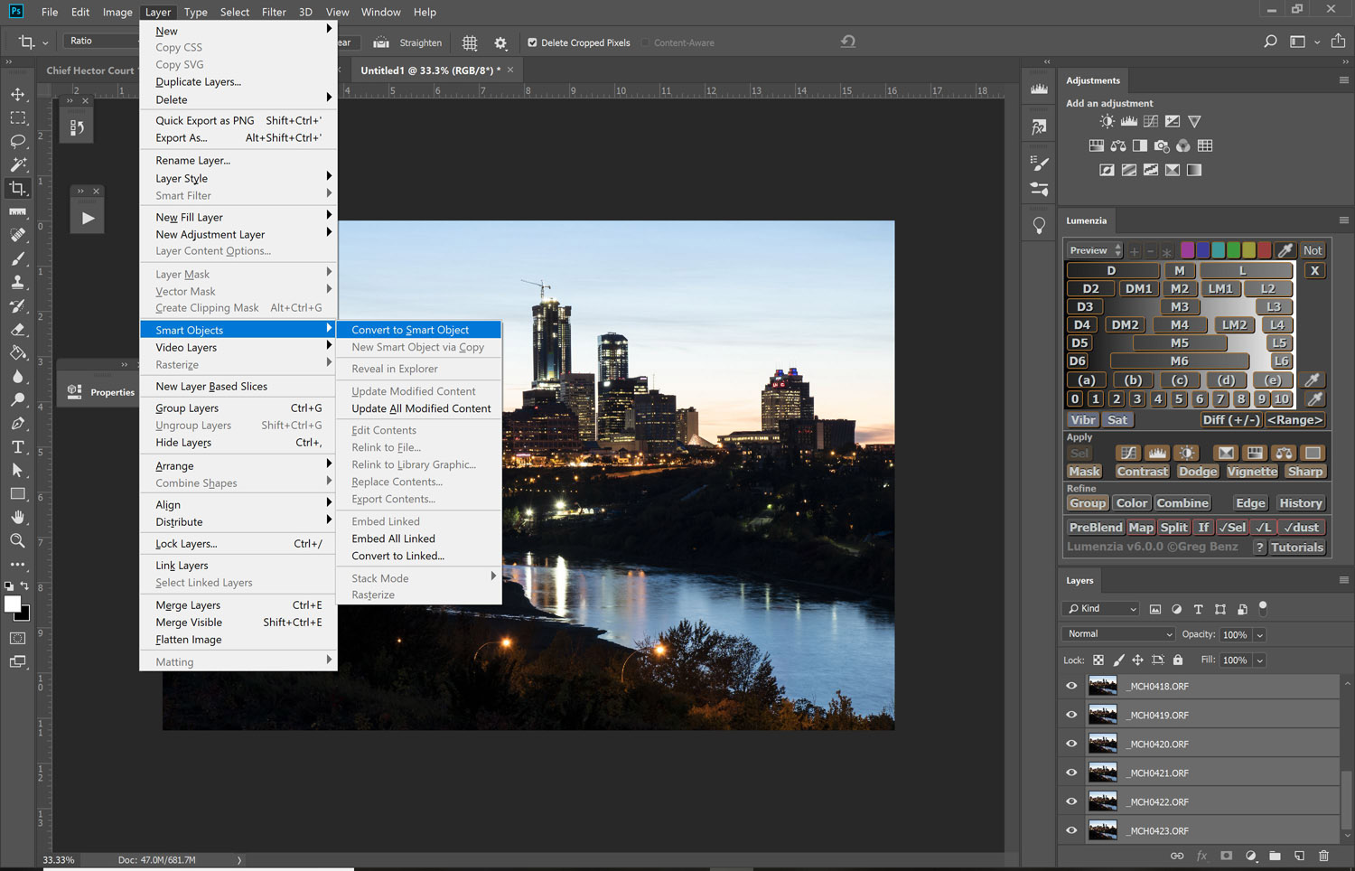 Image: Convert the Layers into a Smart Object