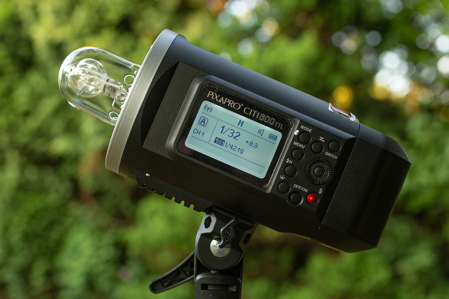Image: Adjusting the power in manual mode means dialing through all the increments on your flash. Th...