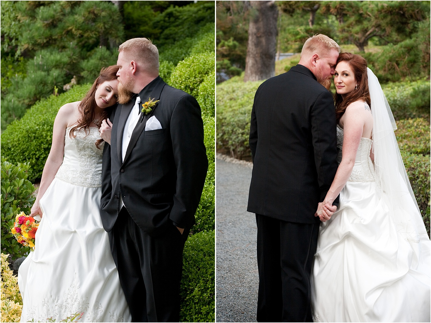 Image: A first look can make the transition to the couple's portraits smoother on a wedding da...