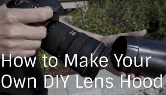 How to Make a DIY Lens Hood to Eliminate Lens Flare