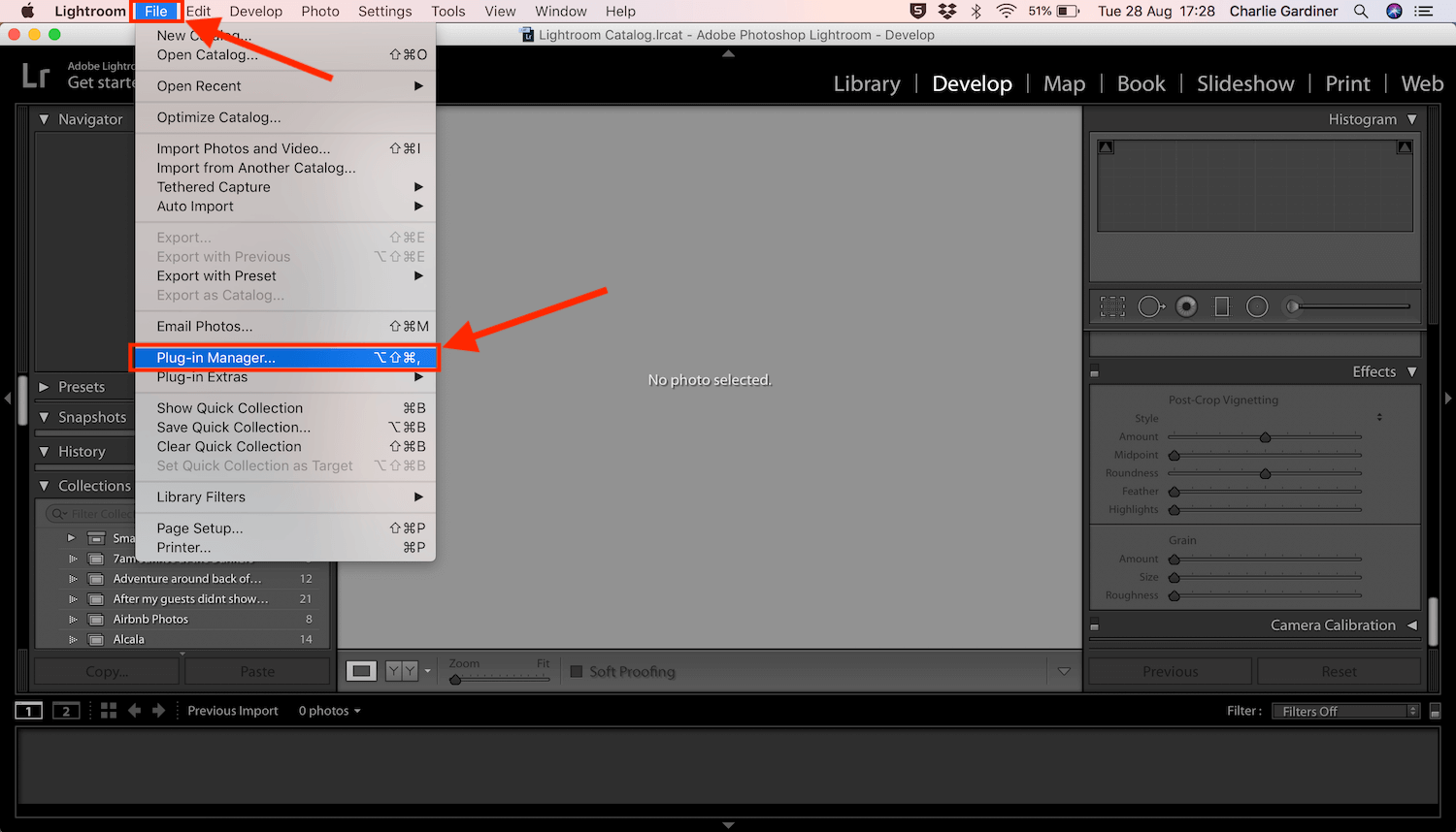 How to install Lightroom plugins