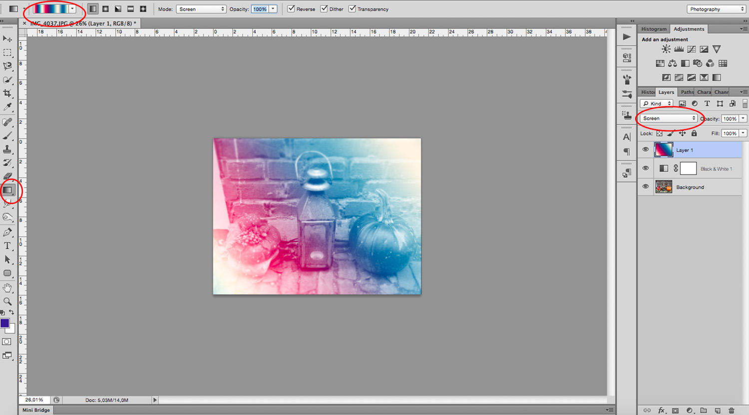 How to Customize and Use the Photoshop Gradient Tool