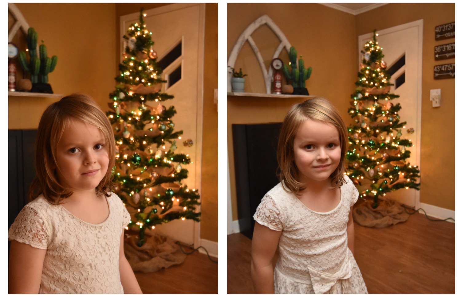 Image: I used an external flash for both of these photos. For the photo on the left, I pointed the f...