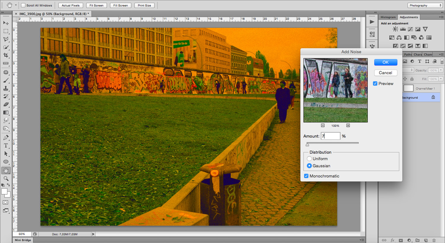 Adding Noise - How To Mimic a Cross-Processing Effect in Photoshop