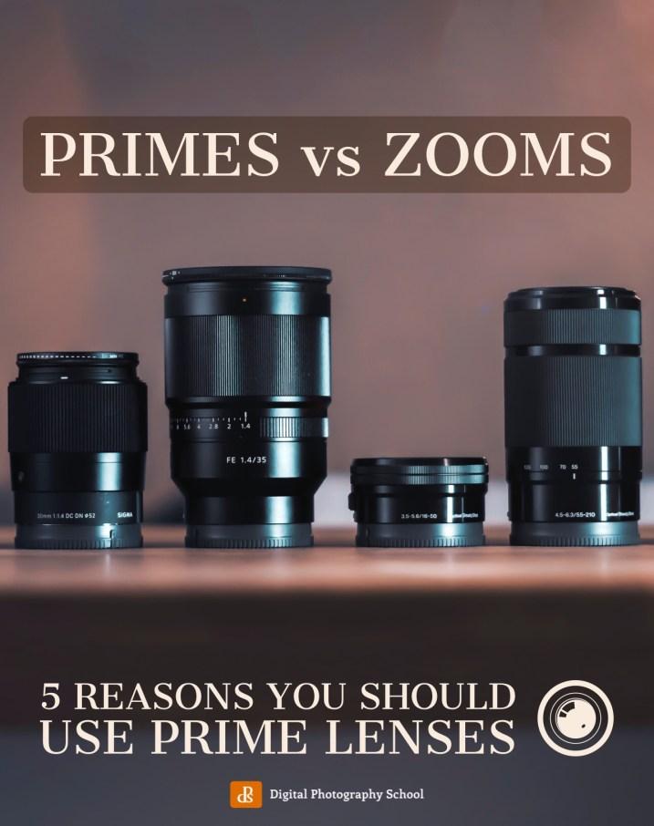 prime lenses vs zoom lenses