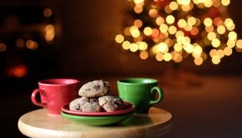 Window light Christmas food photography