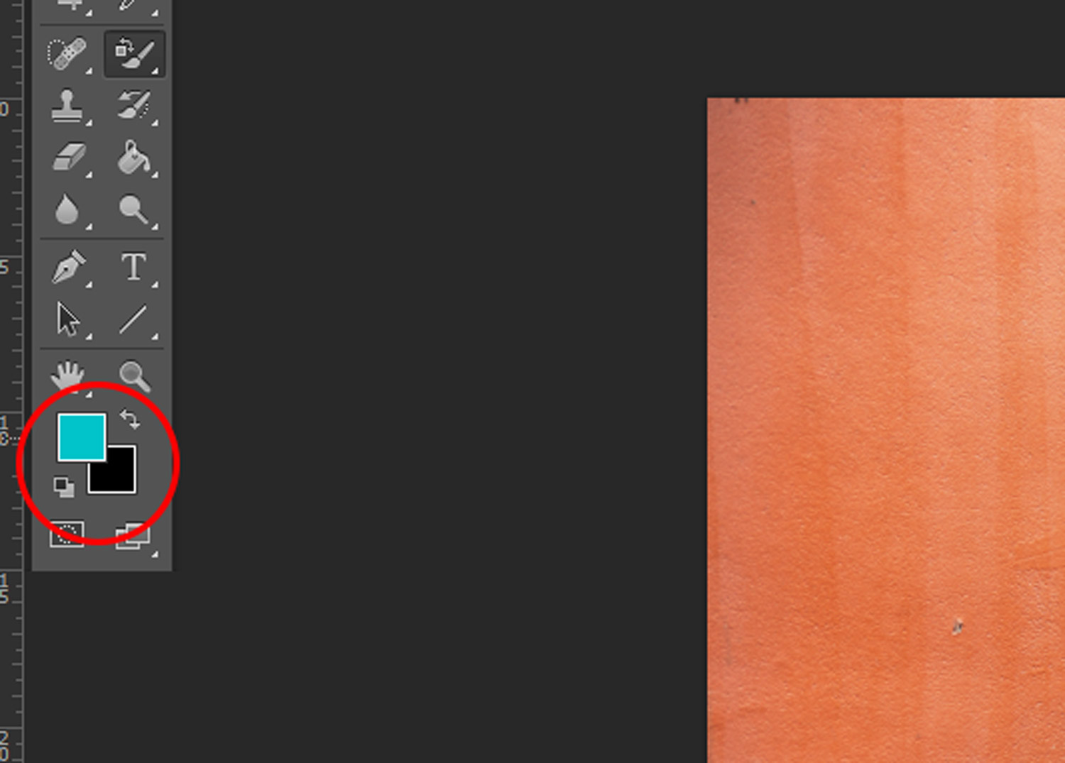 Image: Set your foreground color to the color you want to replace your current color with