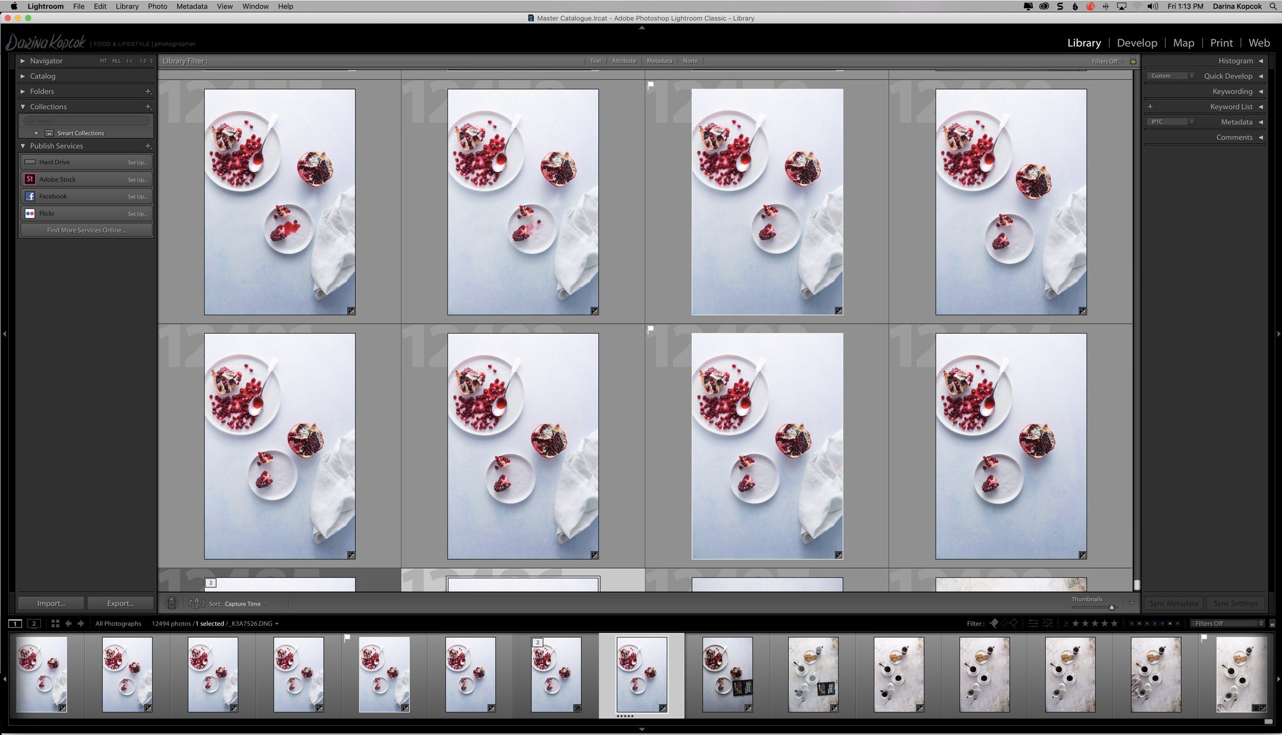 Lightroom Workspace in Grid View-Darina Kopcok-DPS