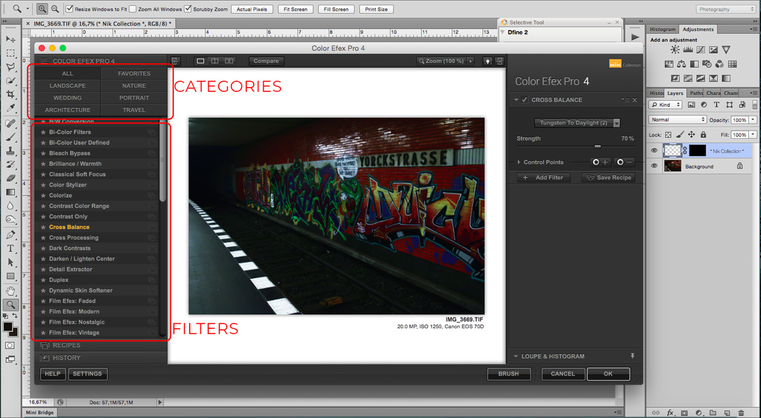 8 - How to Use the NIK Filter Collection with Photoshop - categories