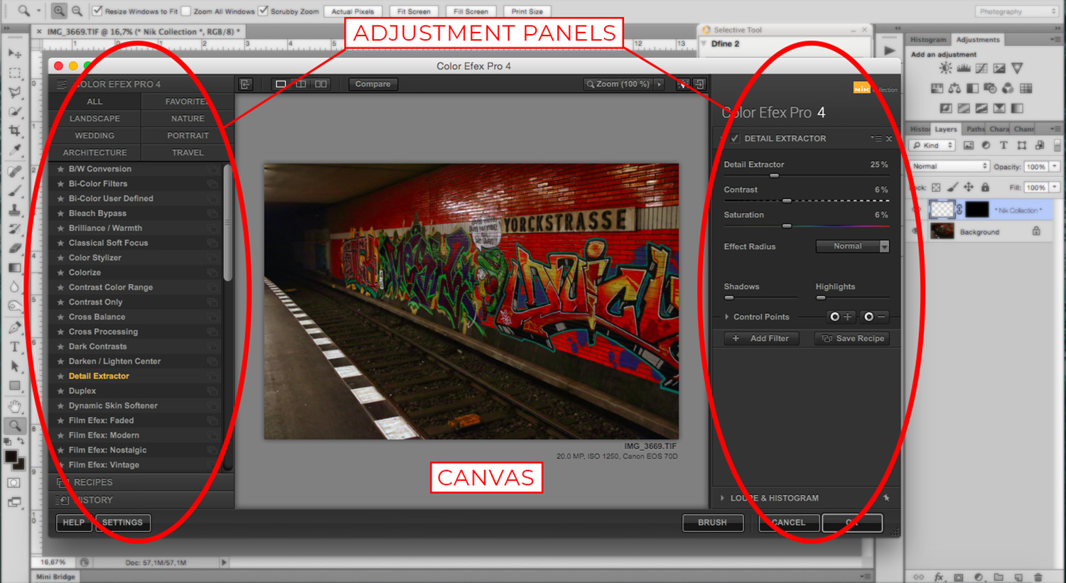 3 - How to Use the NIK Filter Collection with Photoshop - Interface