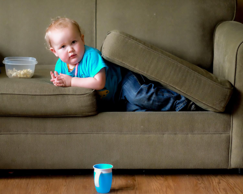 Funny toddler portrait