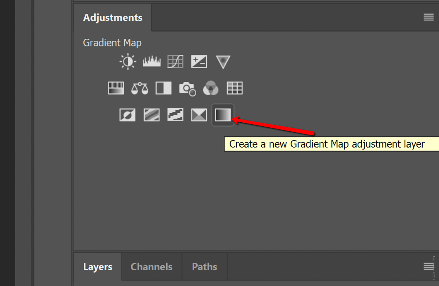 How to make gradient adjustment layer in photoshop