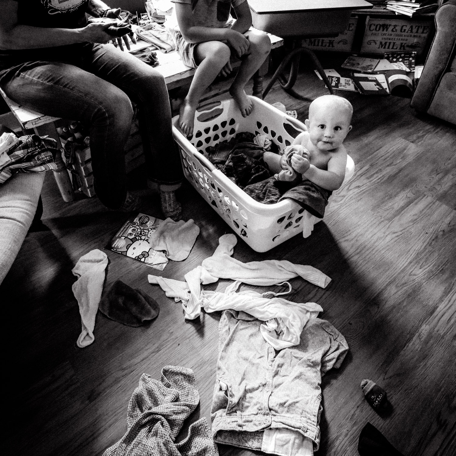 Image: I love walking into a chaotic scene and making a portrait from it. This picture has some tech...