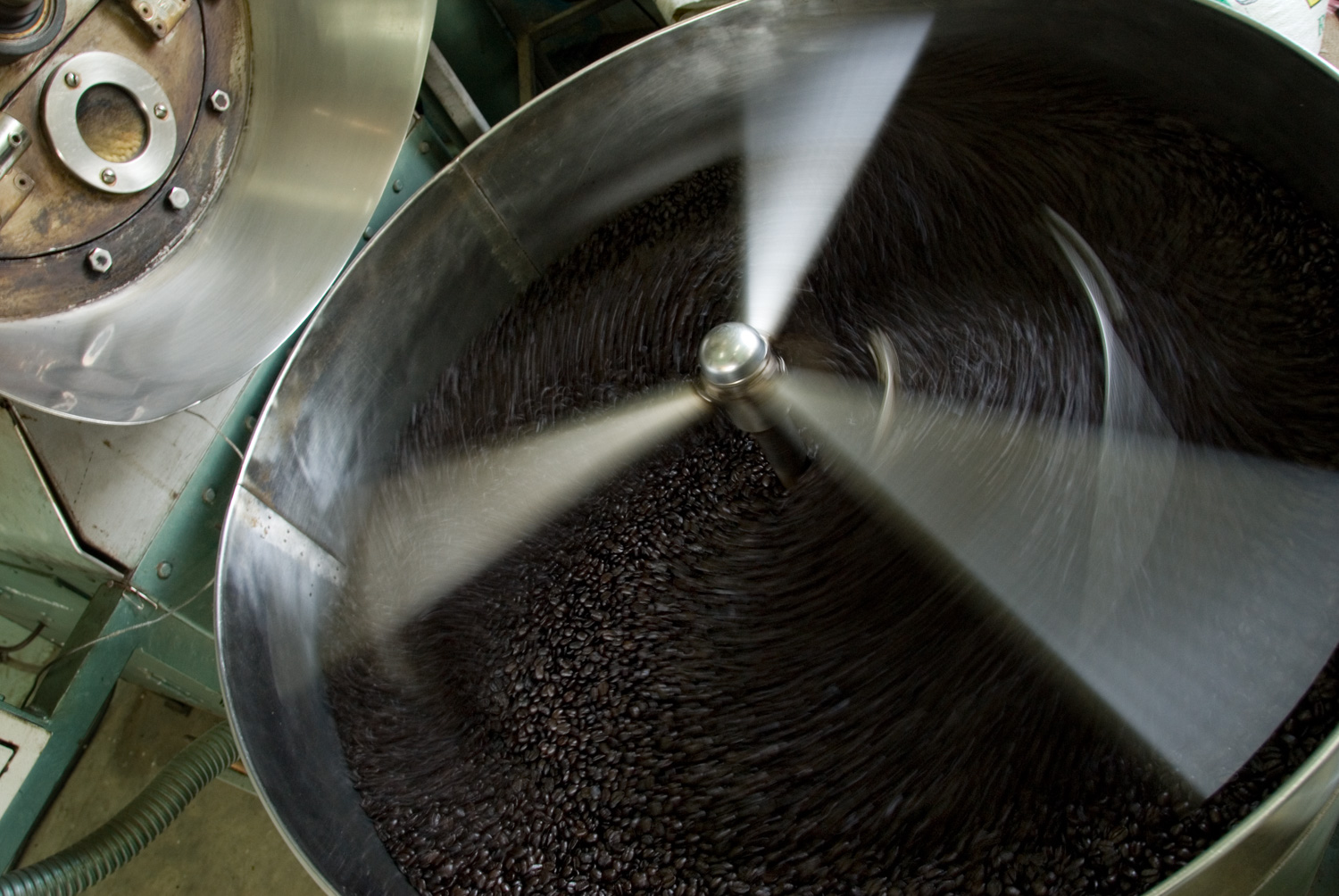 Coffee Roasting Using a Slow Shutter Speed to a Create Sense of Motion