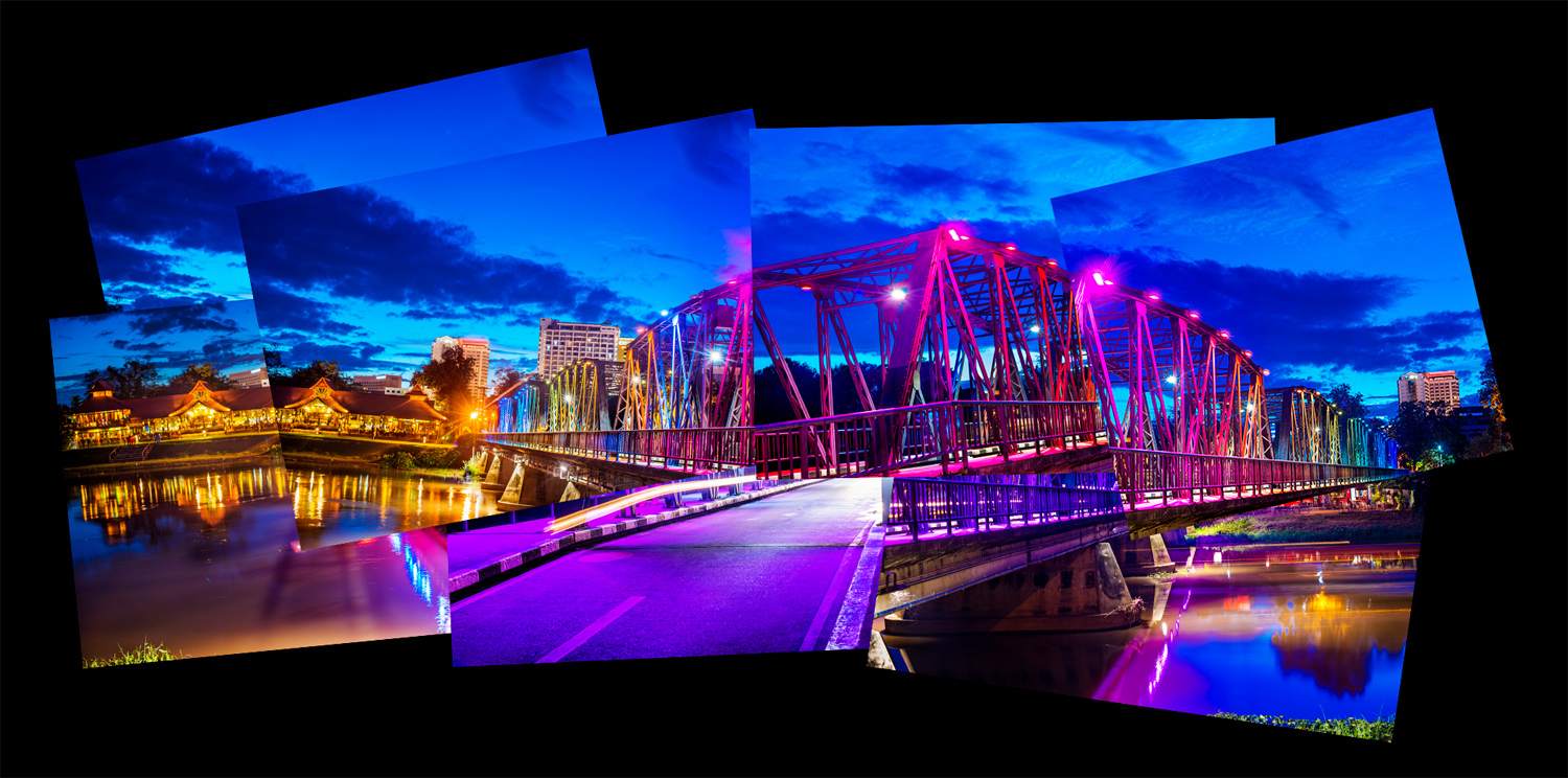 Iron Bridge Chiang Mai How To Make Amazing Photomontages
