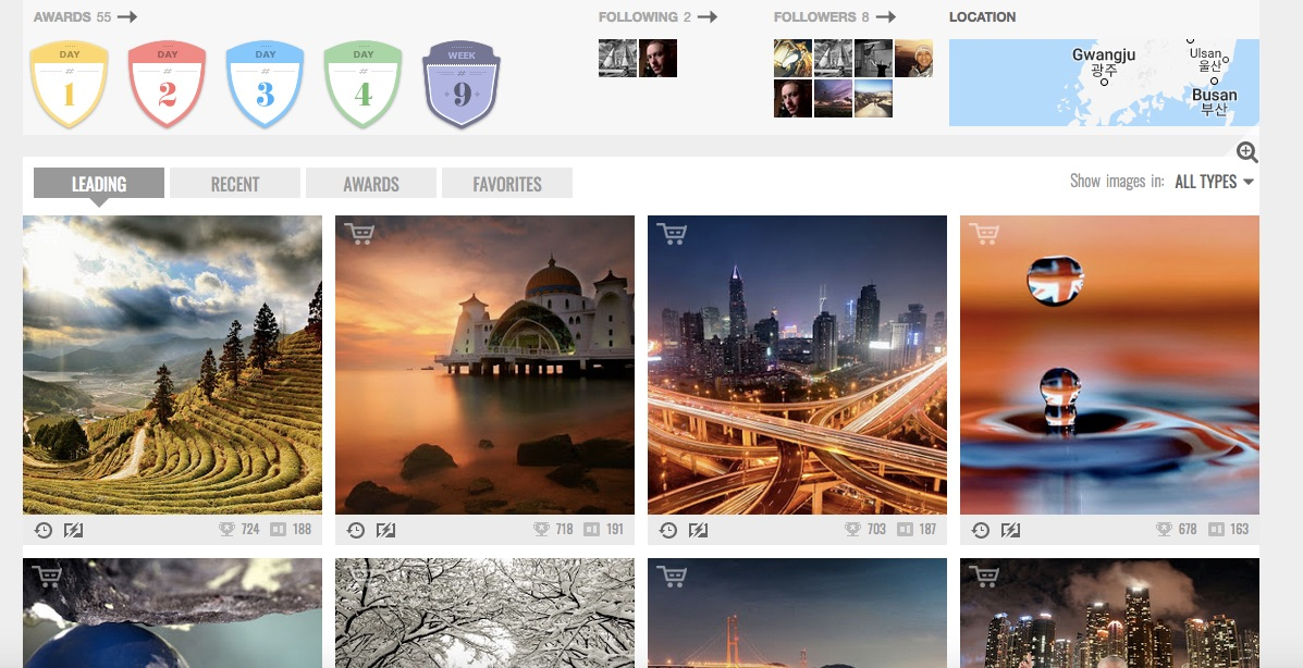 Image: Photo contest sites like Pixoto are a great way to see how well your photography level is pro...