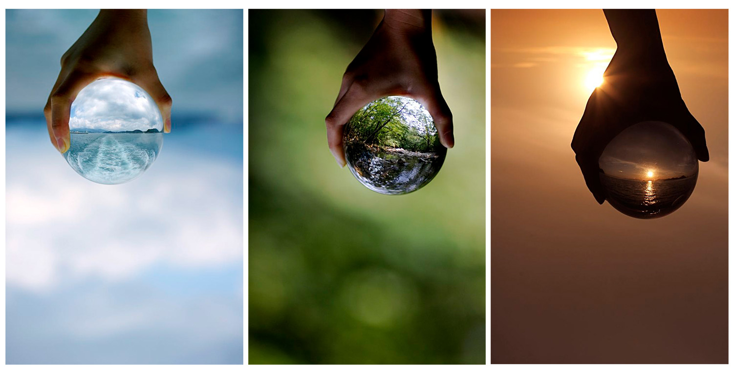 Image: Creating a story through a sequence of photos works well. In this case, the concepts of water...