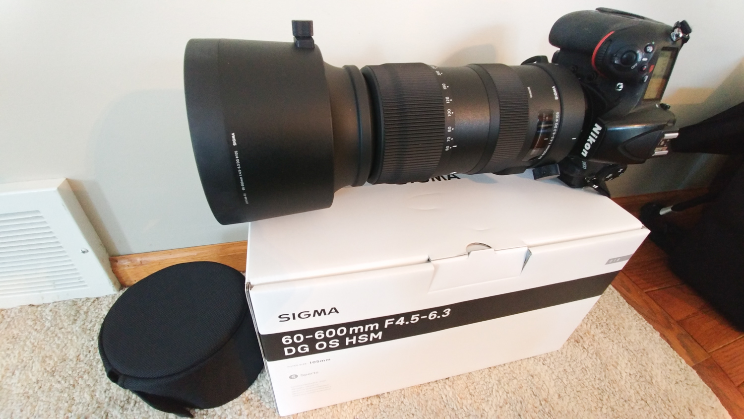 Sigma Soft Padded Case for 500mm f//4 DG OS HSM Sports Lens