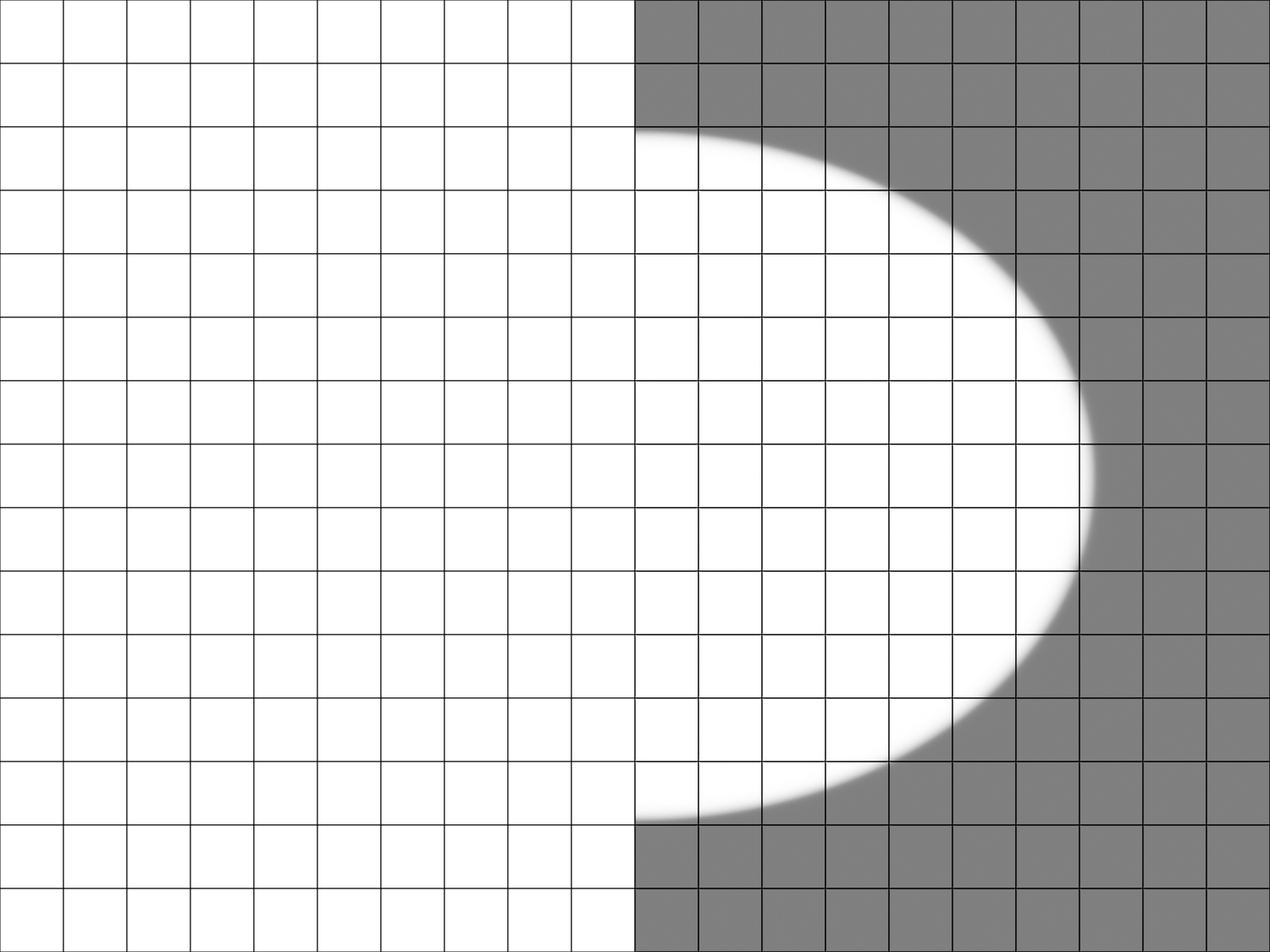Image: Amount -50, Midpoint 0, Roundness 0, Feather 0