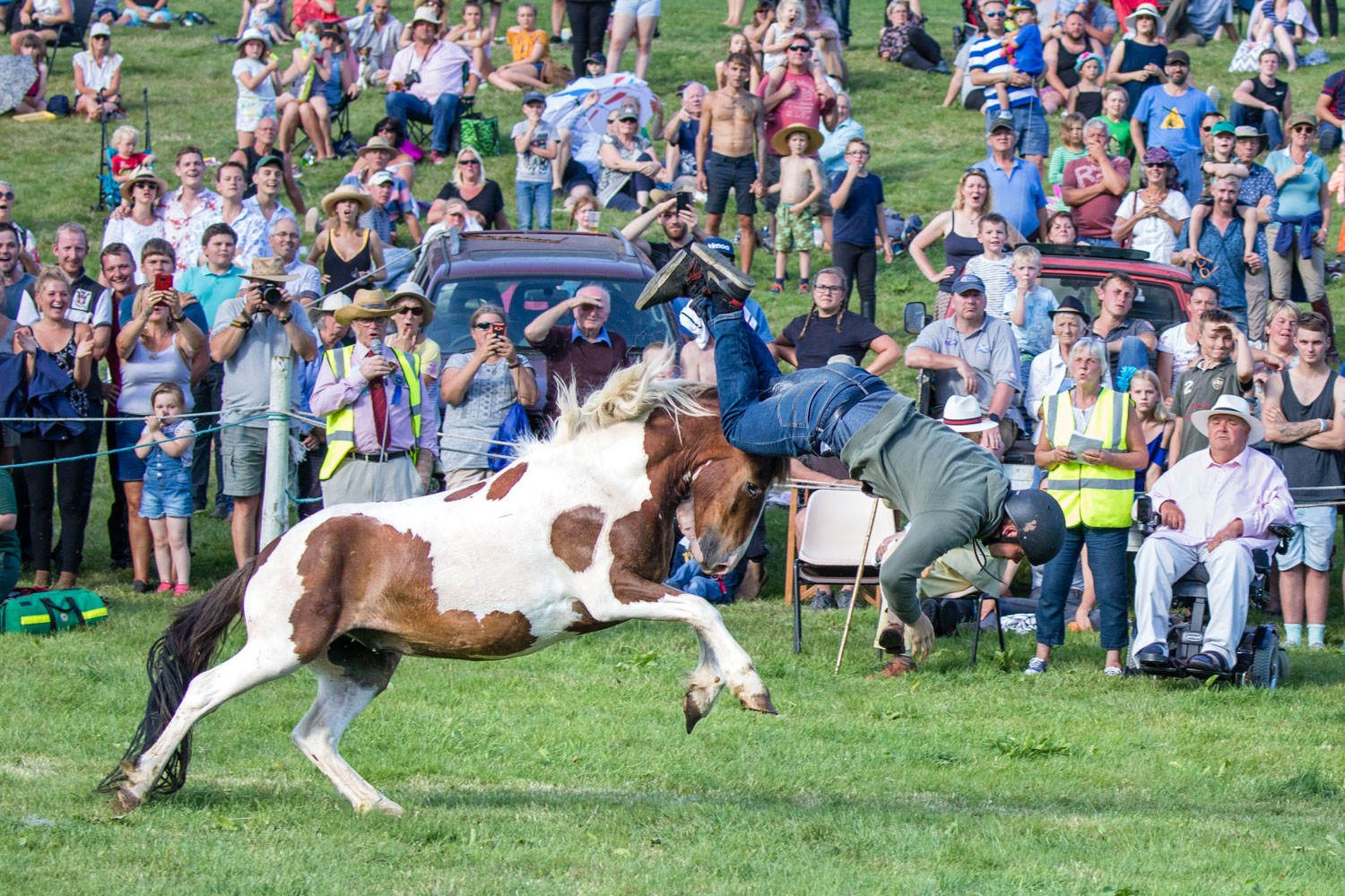 Image: A guy falling off a horse, Llanthony Show, Brecon Beacons, Wales © Jeremy Flint