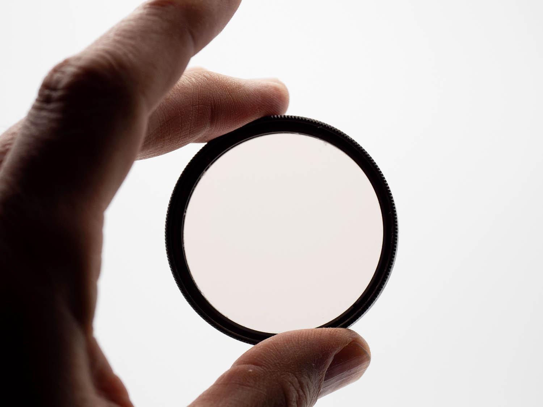 Image: A warming filter to adjust white balance
