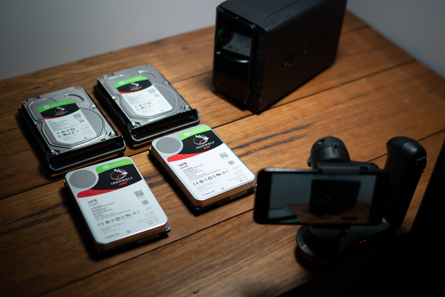 Synolgy Seagate 14TB Ironwolf Review Photography