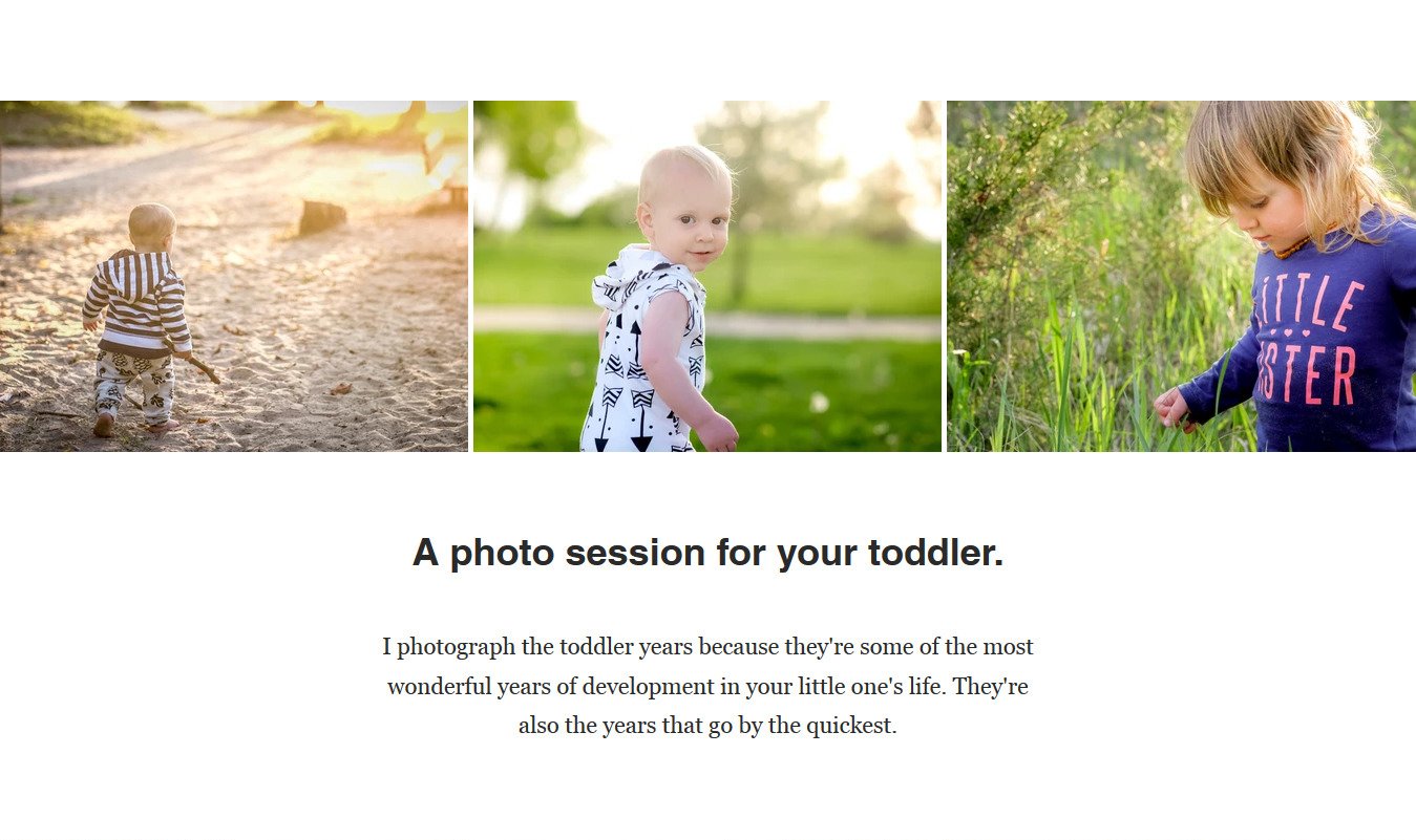 Image: I photograph the toddler years because they're some of the most wonderful times of deve...