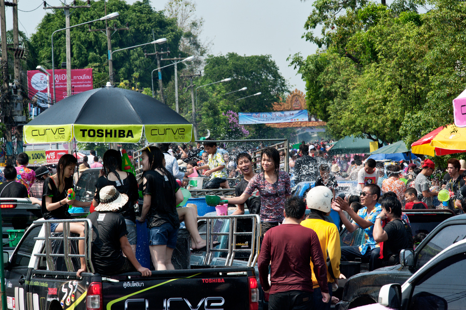 When should you obtain a model or property release? Songkran party in Chiang Mai