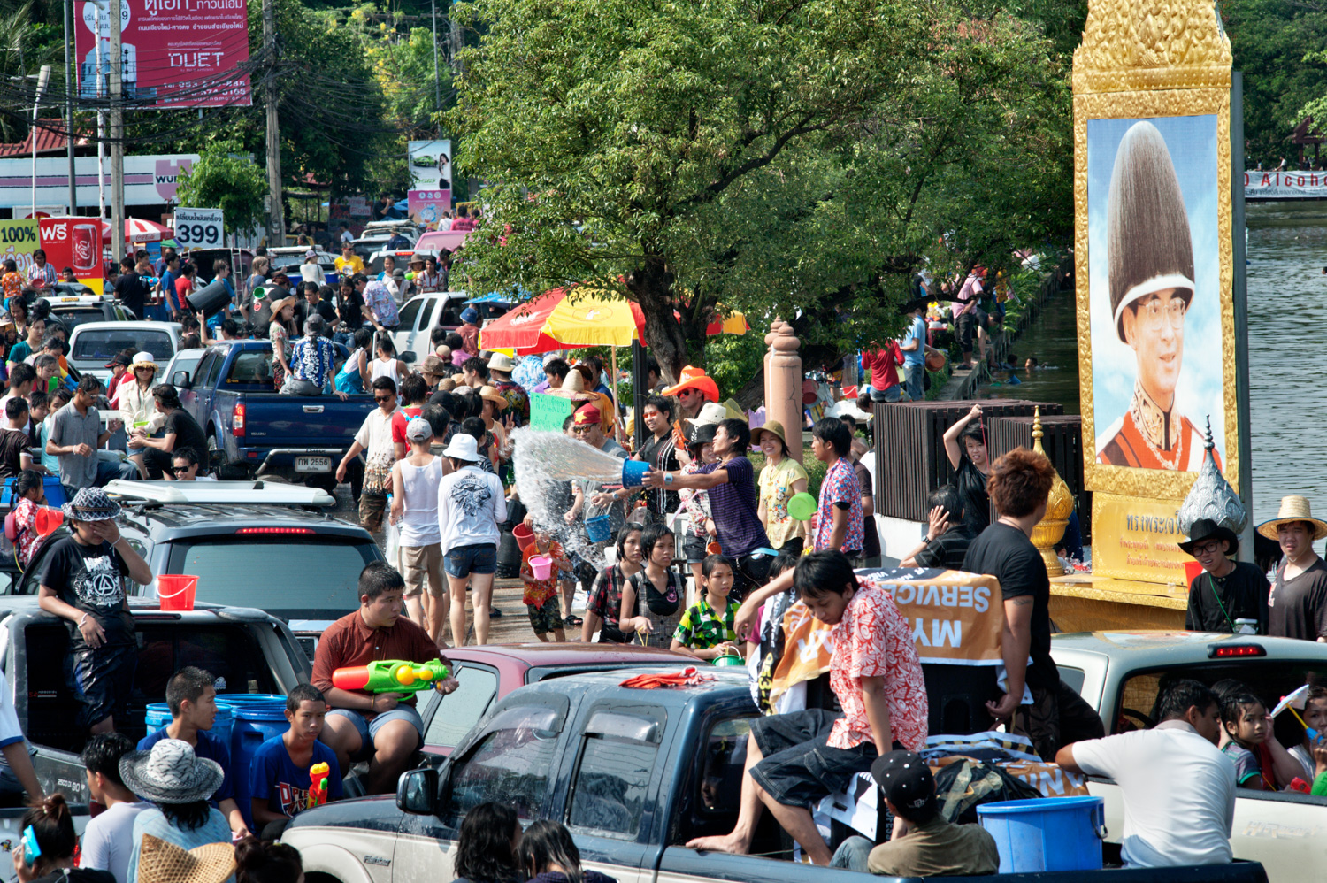 Royalty Free Editorial Stock Photography - What is it? Crowds During Song Khran Festival in Chiang Mai