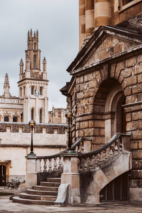 Image: The Radcliffe Camera, Oxford, with All Souls College, Oxford in the background. © Charlie Mos...
