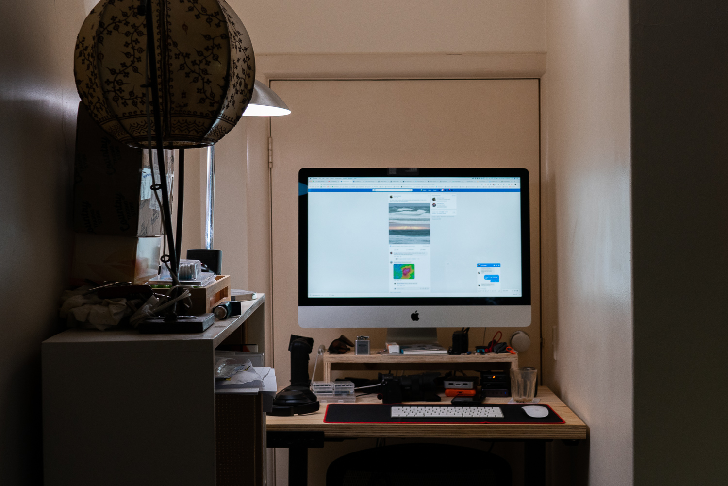 Image: I wasn't joking about the super-small office space!