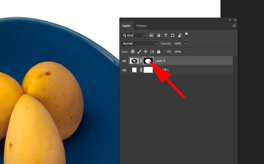 Seven steps for post-processing of an icon for a mask with pure white background