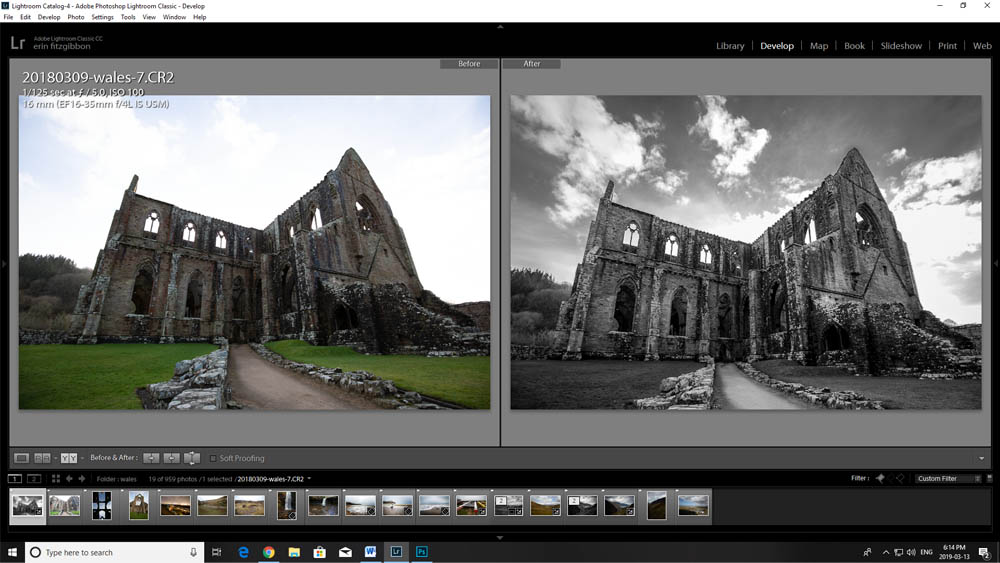 Image: Here's an example of the Auto tool in use on Tintern Abbey.