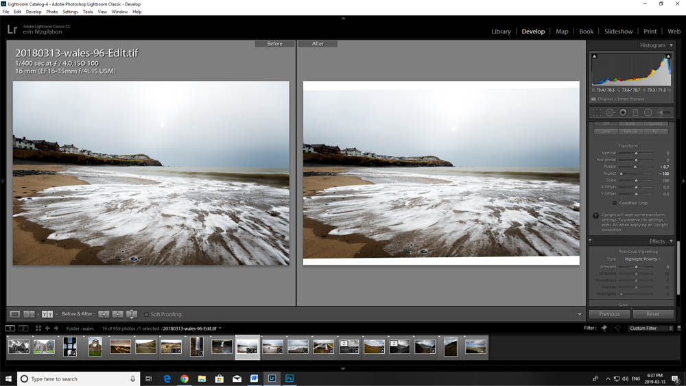 Image: In this screenshot, you can see how the aspect slider works to adjust an image.