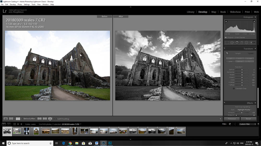 Image: I find the level tool works great for landscape images but in this case, it needs manual adju...