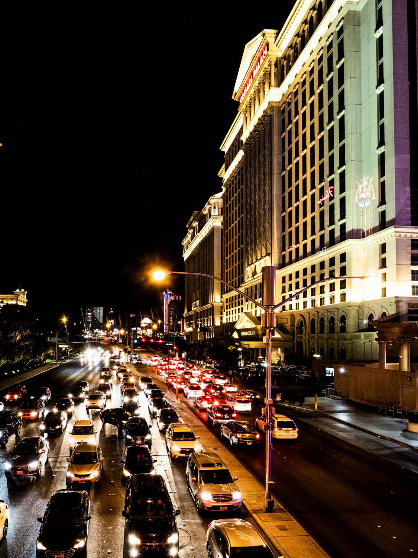 Image: Lit up Las Vegas