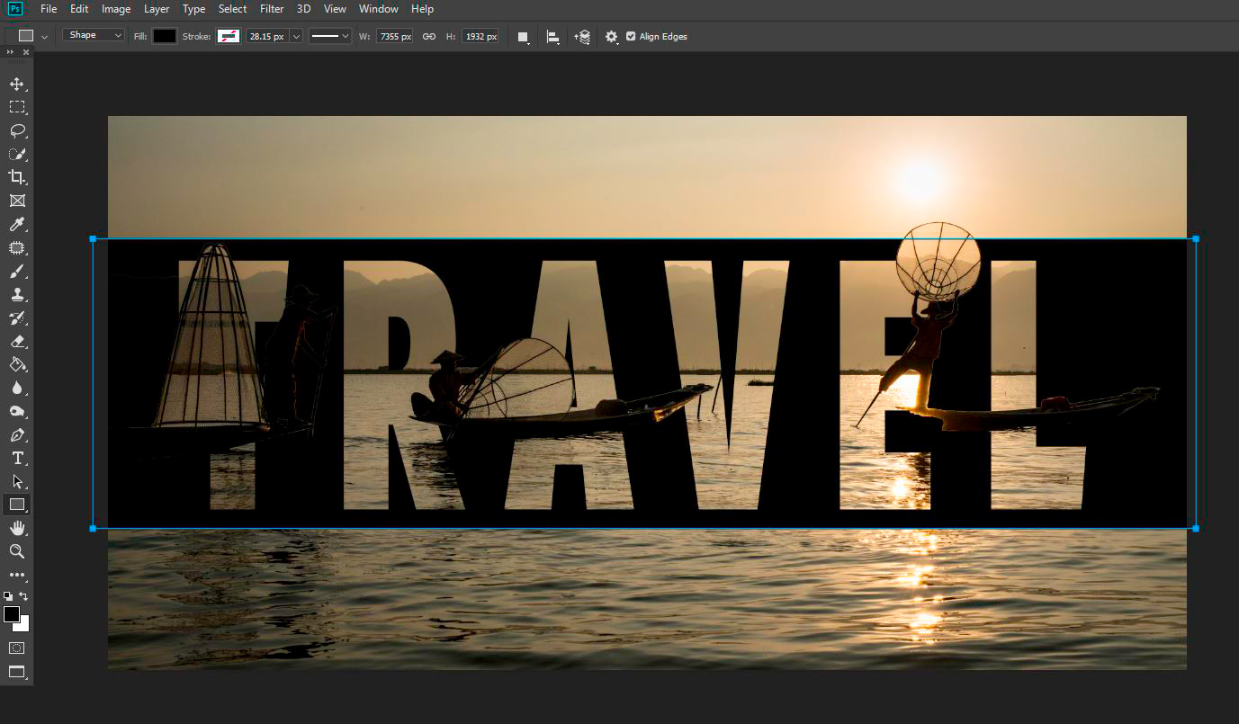 How To Use Photoshop to Create an Image Inside Your Text New Background