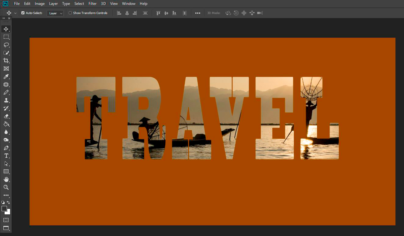 How To Use Photoshop to Create an Image Inside Your Text