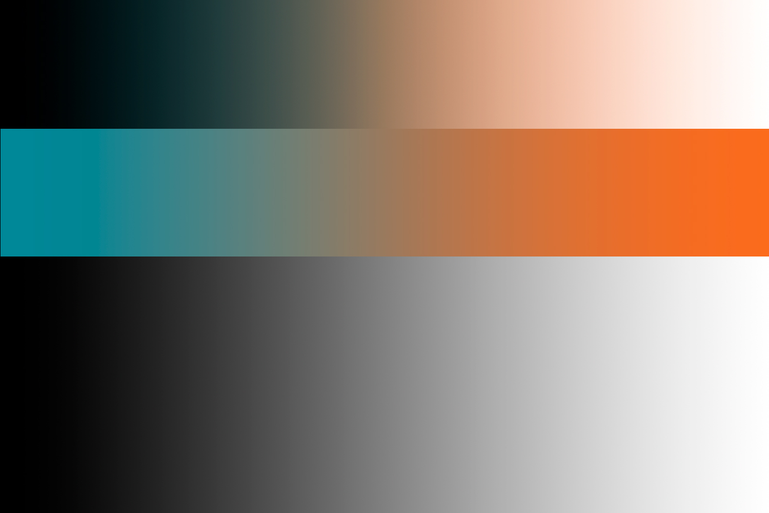 how a color gradient map works