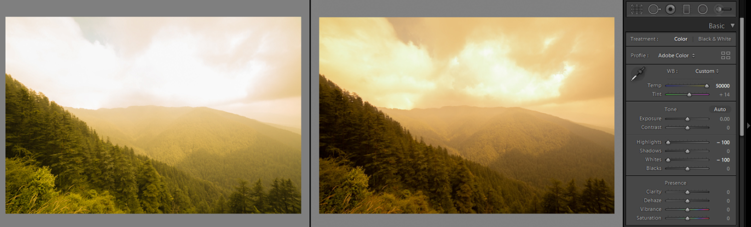 Image: Experimenting with White Balance, I moved the slider to the warmer end of the White Balance s...