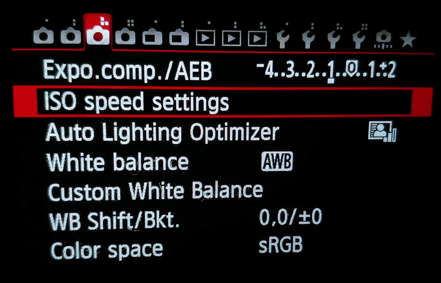 Image: Setting up Auto ISO on a Canon 6D.