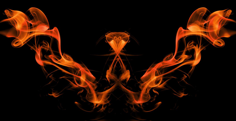 Abstract smoke photography - Firebird