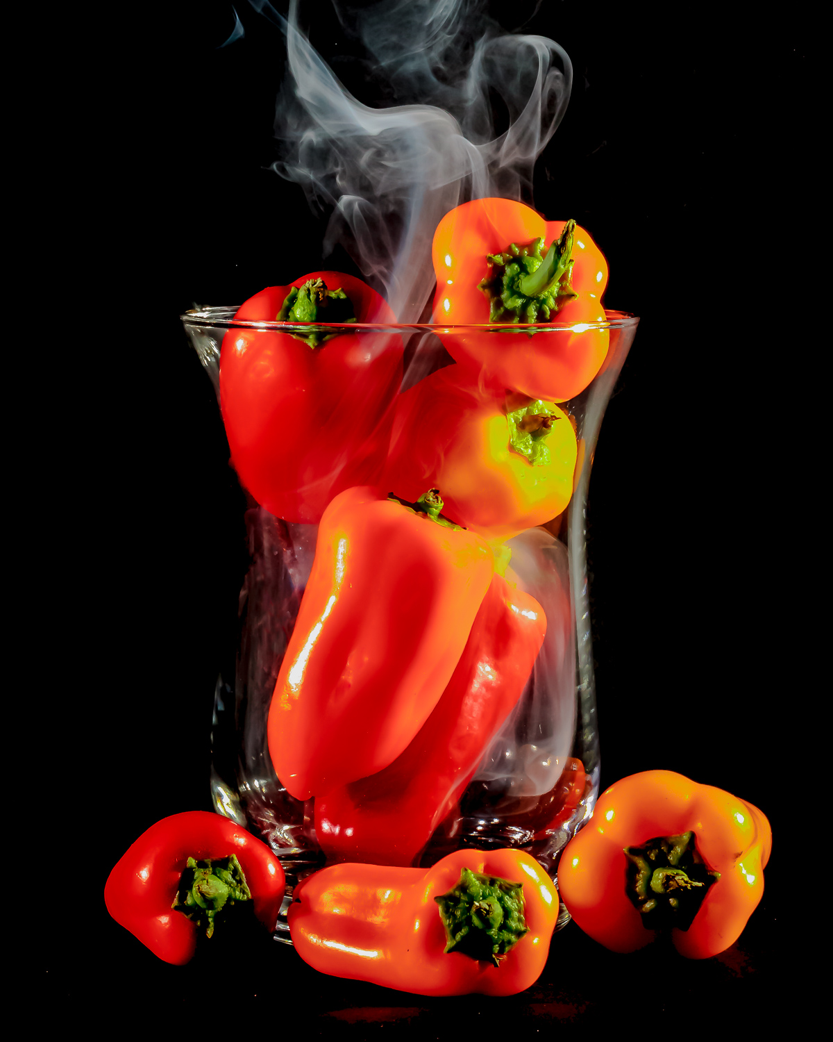 Abstract Smoke Photography - Smokin Hot Peppers
