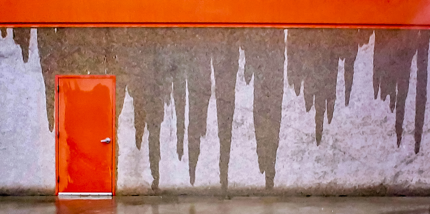"""Image: Water dripping down the wall of a building makes for a """"realistic-abstract."""" © Ri..."""