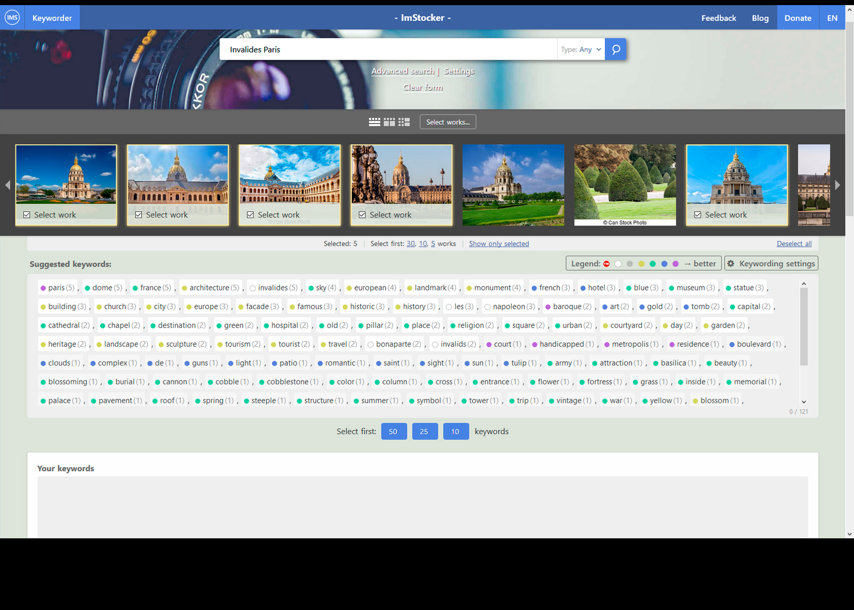 IMS Keyworder - free image keywording tool