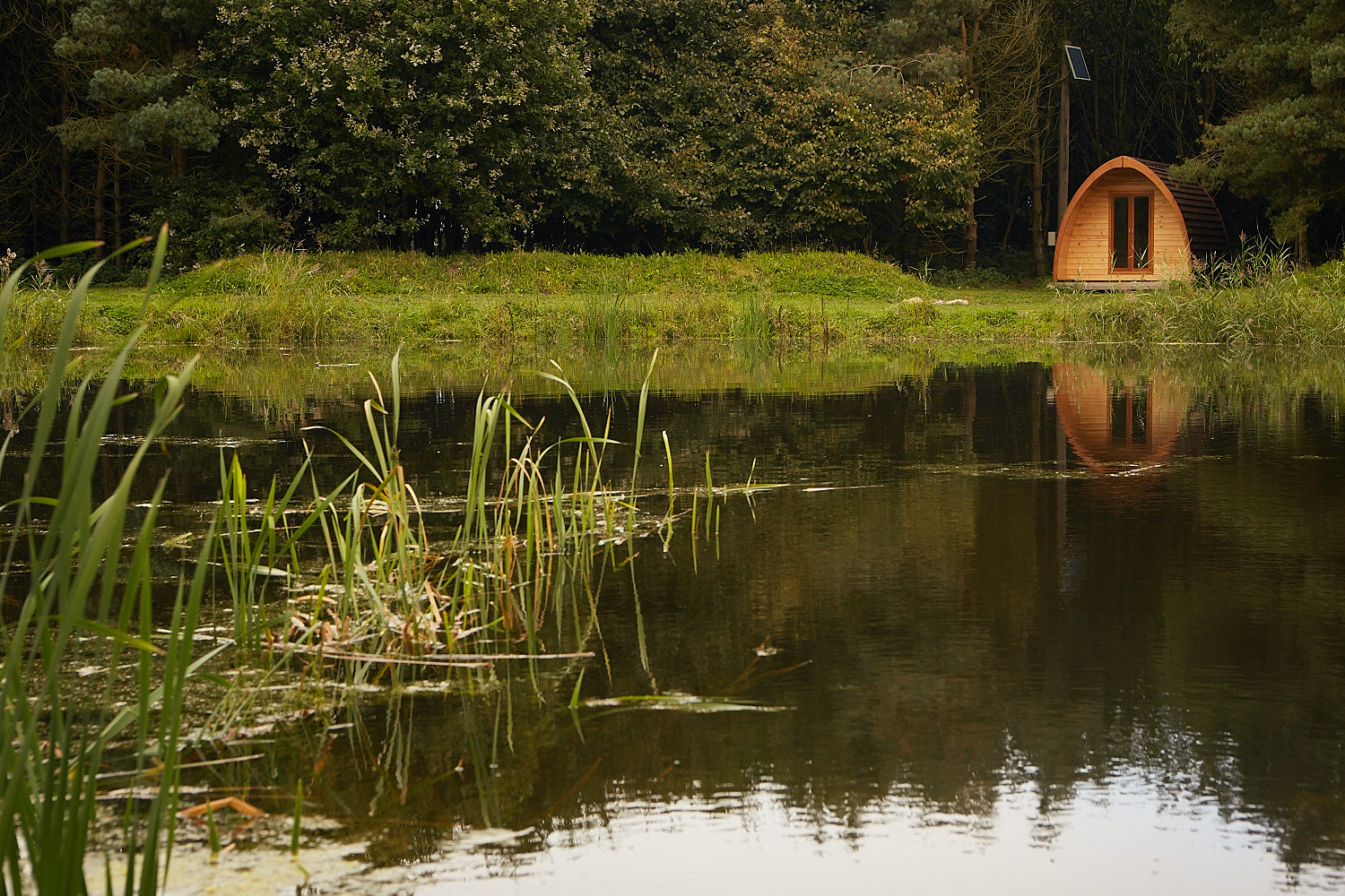 camping pods in rural England