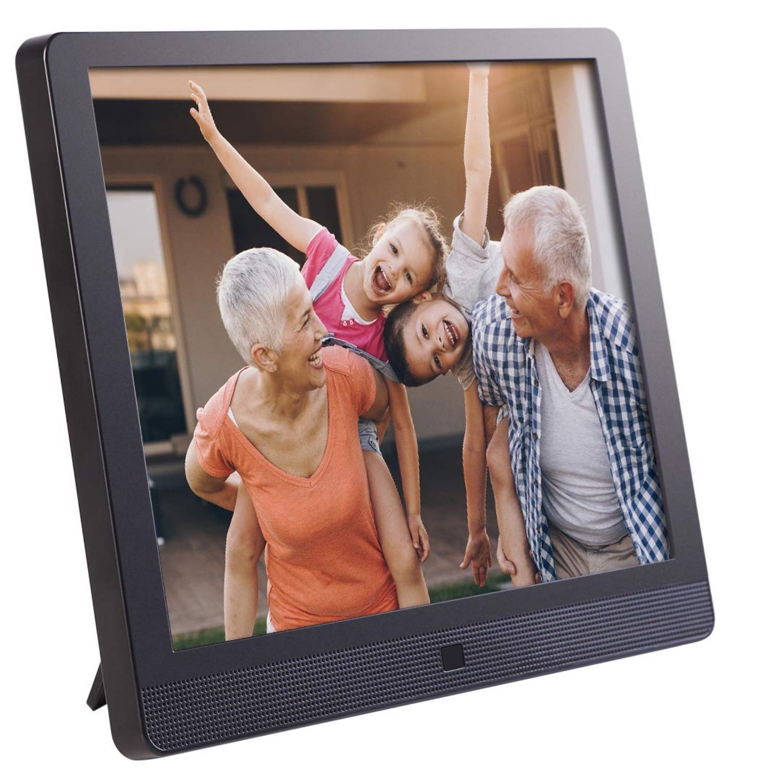 Image: The Pix-Star 15-inch frame lets you see your photos without printing them.