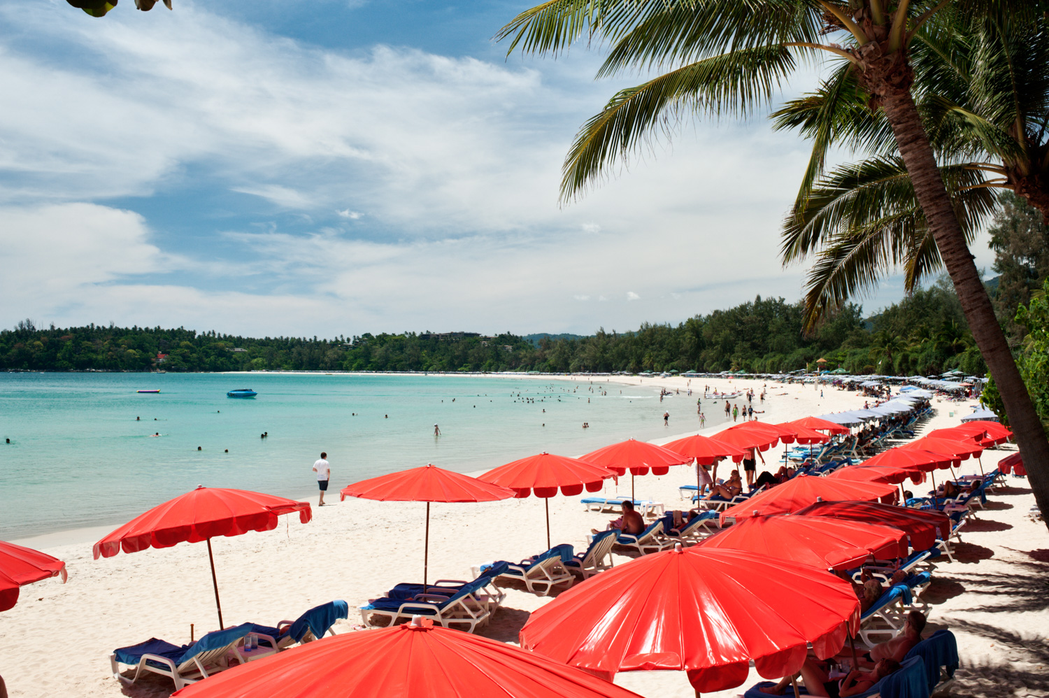 21 Tips For Stock Photography Red Umbrellas on a Tropical Island Beach